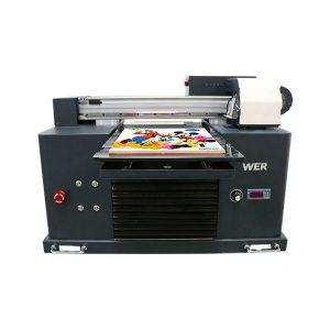 Specifikācijas Lietošana: Kartes printera plāksnes tips: plakanvirsmas printera stāvoklis: jauni izmēri (L * W * H): 65 * 47 * 43 CM Svars: 62 kg Automātiskā pakāpe: Automātiskais spriegums: AC220 / 110V Garantija: 1 gada drukas izmērs: 16.5x30 CM , A4 SIZE Tintes tips: LED UV tintes produktu nosaukums: Mazs printeris A4 izmērs Digitālā drukas iekārta UV plakanā printera tinte: LED UV tinte Drukāt Augstums: 0-50mm Tintes sistēma: CISS sistēma Tintes krāsas: CMYKWW Sprauslu skaits: 90 * 6 = 540 Drukas programmatūra: WINDOWS SYSTEM EXCEPT WIN 8 spriegums :: AC220 / 110V bruto jauda: 30W