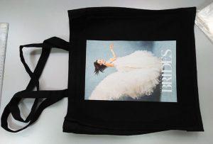 Melnais parauga maisiņš no Lielbritānijas klienta tika izdrukāts ar dtg tekstila printeri