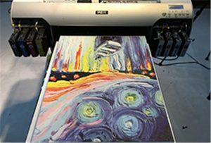 Audekls no A2 UV printera WER-EH4880UV parauga