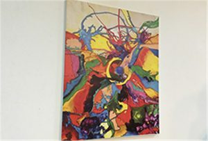 Gleznas paraugs iespiests ar A1 izmēra uv printeri WER-EP6090UV