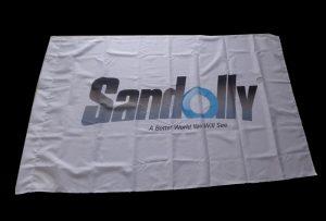 Flag Auduma baneris, izdrukāts ar 1,6 m (5 pēdu) eko šķīdinātāja printeri WER-ES160