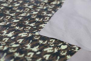 1. tekstilmateriāla drukāšanas paraugs ar digitālo tekstila apdrukas iekārtu WER-EP7880T